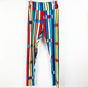 Happy Lularoe Multicolor Leggings